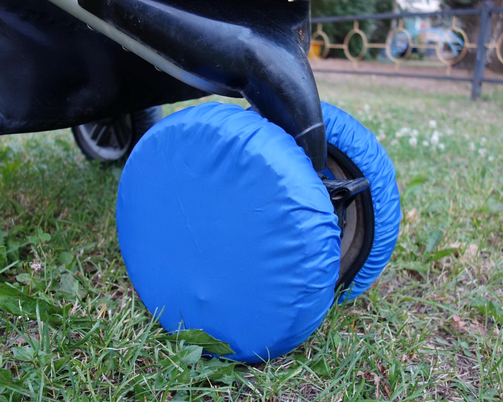 Аксессуар для колясок Чудо-чадо Чехлы на колеса коляски синий