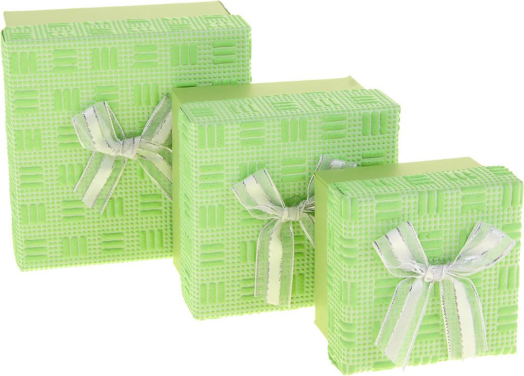 """Набор подарочных коробок """"3 в 1"""", квадратных, 1020466, светло-зеленый, 3 шт"""