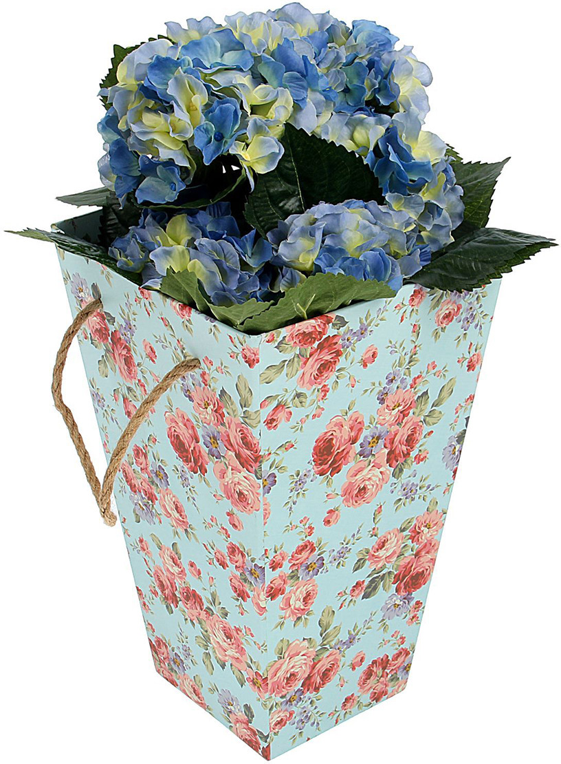 Переноска для цветов, с ручками, 1971346, 18 х 18 х 30 см Иу Жусима Крафтс Кампани Лимитед