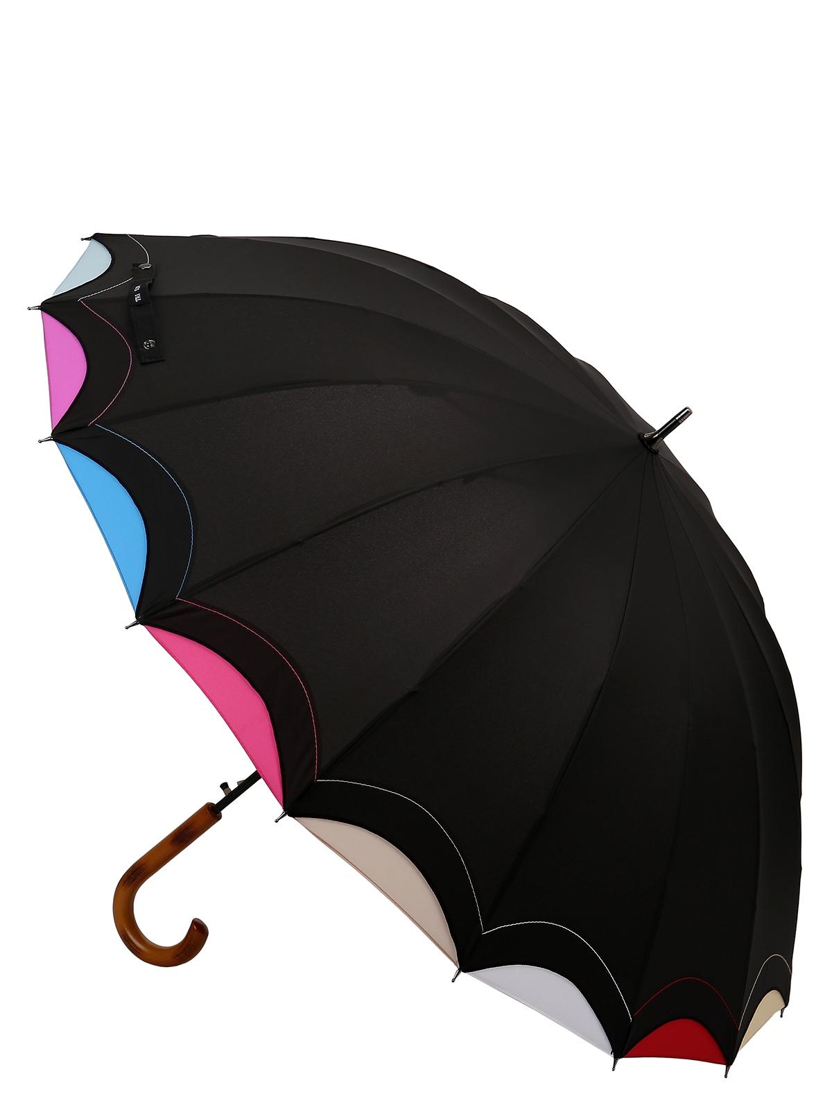 Зонт Три слона 1100-B-01, черный, разноцветный