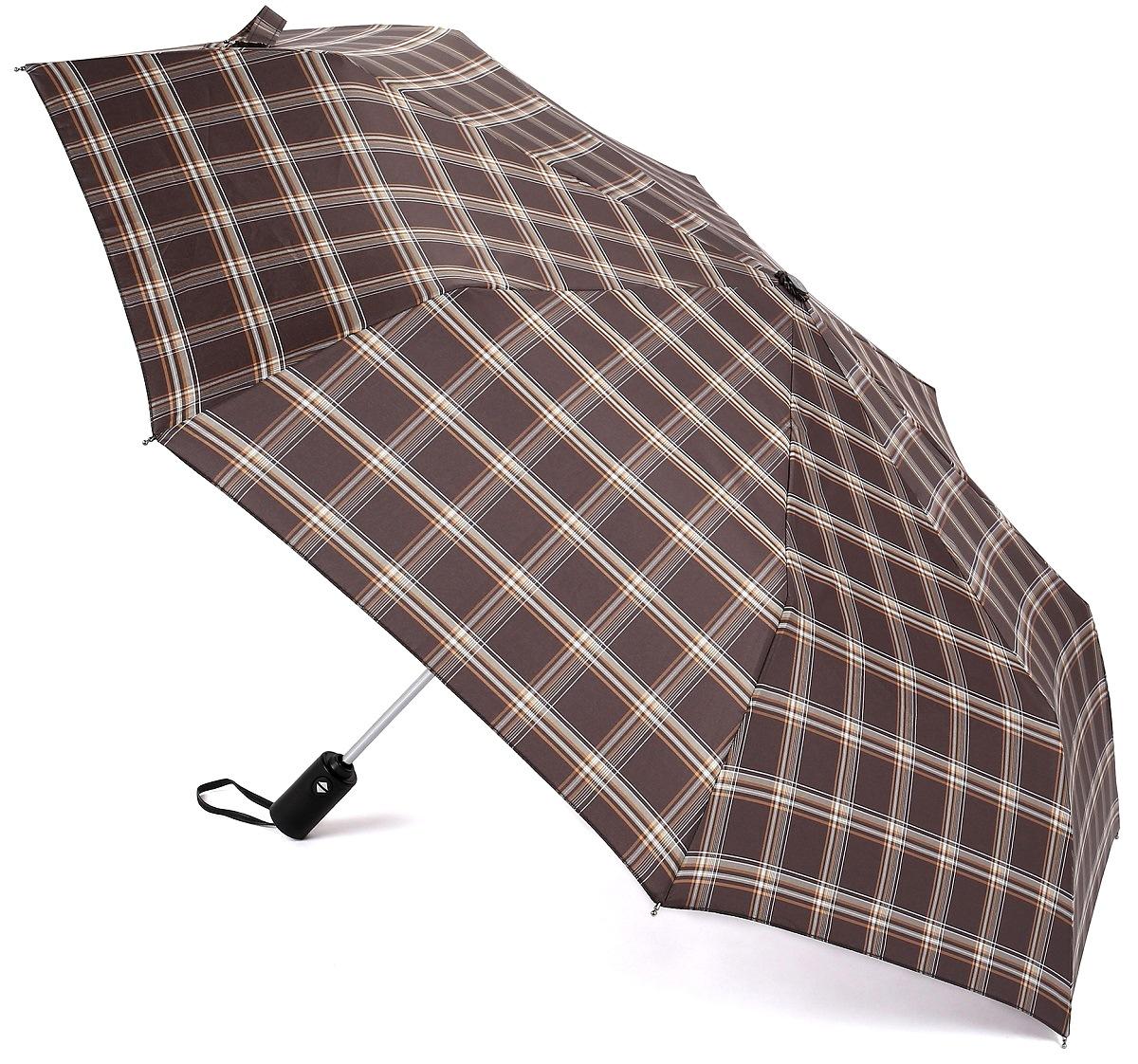Зонт Три слона 907, темно-коричневый, серый