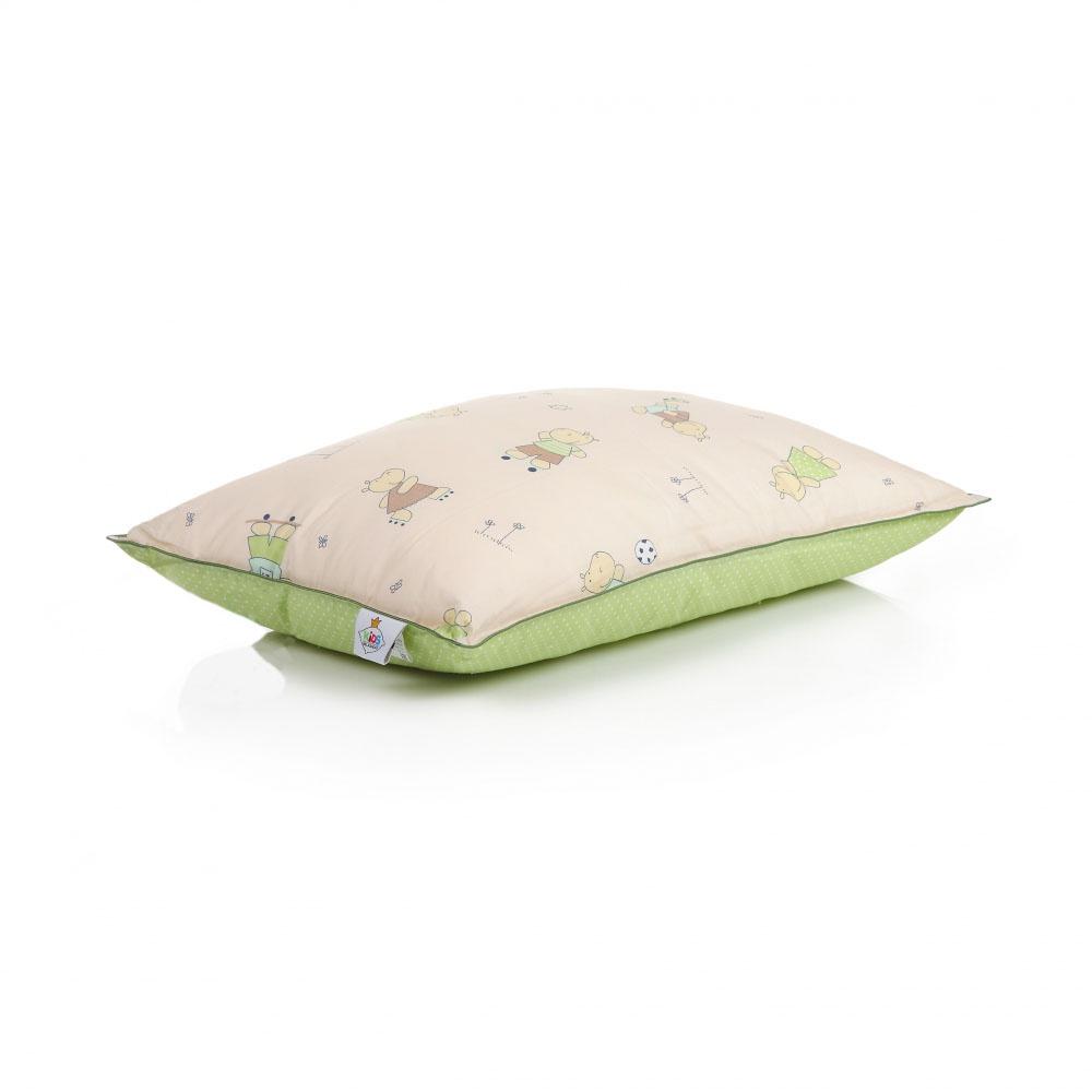 Детская подушка Rich Line Home Decor Нежность в каждом мгновение 3, бежевый, светло-зеленый