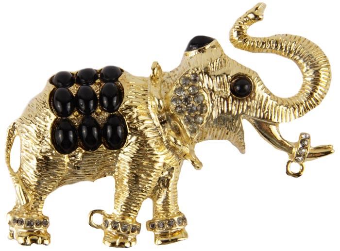 Брошь бижутерная брошь слоник