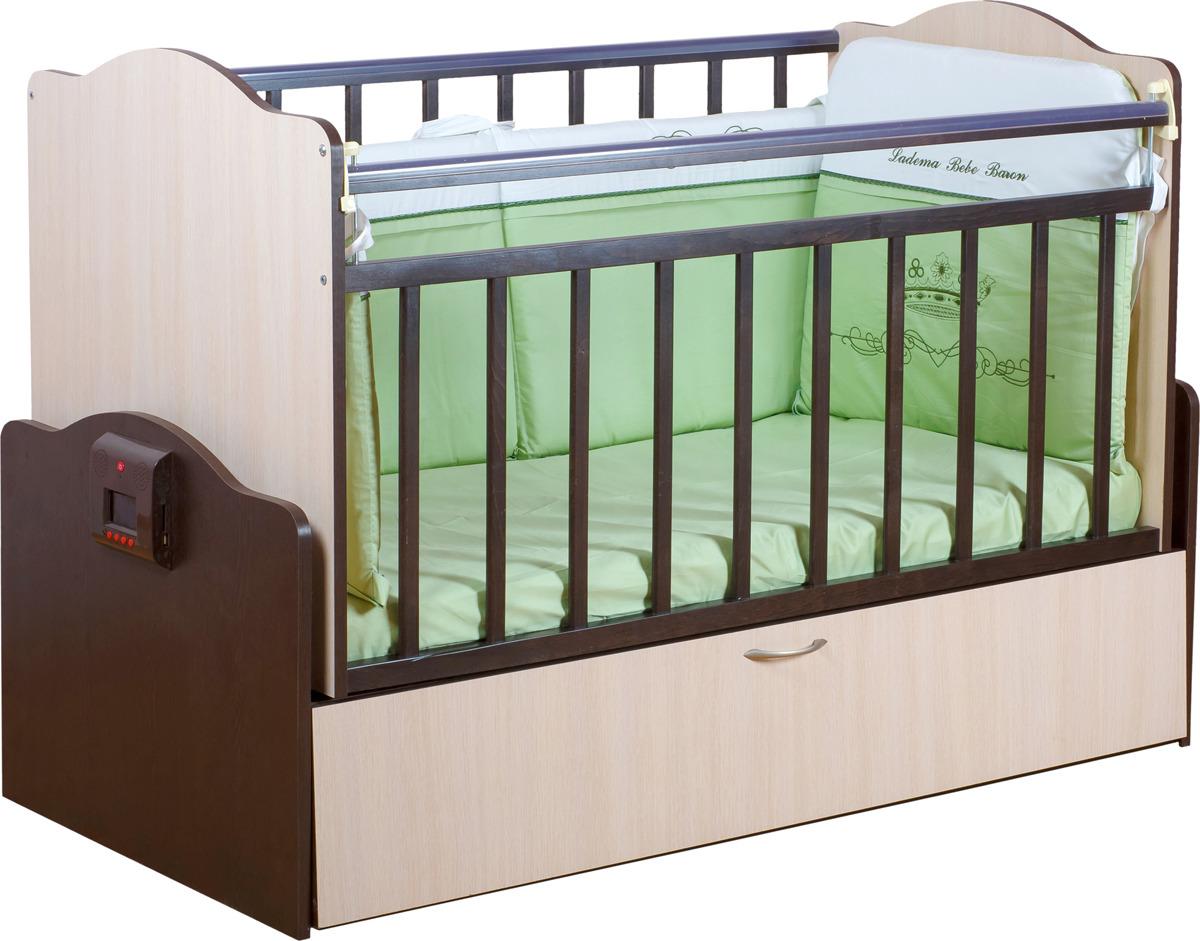 Кроватка Daka Baby Укачай-ка 02, цвет: комбинированный кроватка daka baby укачай ка 02 цвет венге