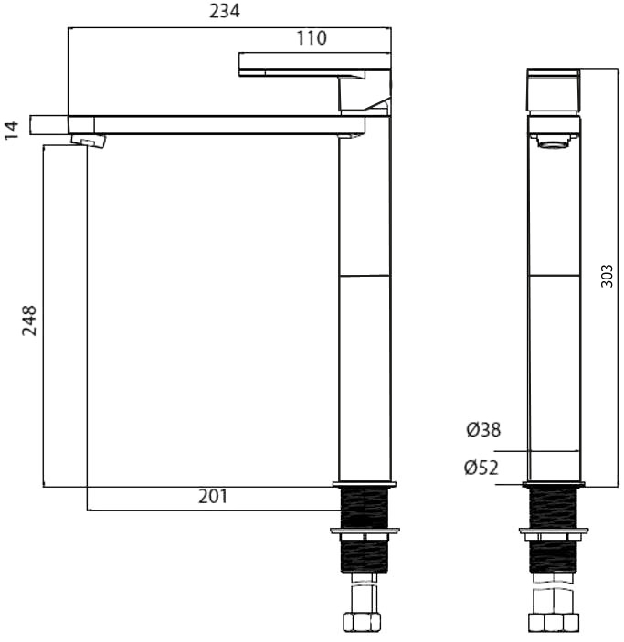 Смеситель  для раковины MZE04403Смеситель для раковины, M&Z...