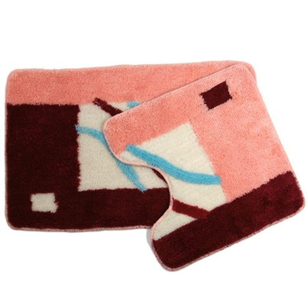 Комплект ковриков для ванной Vetta, 462161, коричневый, 2 шт