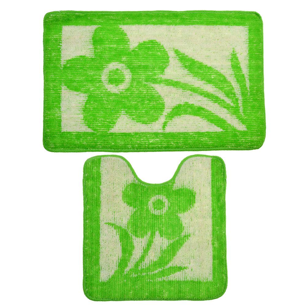 Комплект ковриков для ванной Vetta, 462640, зеленый, 2 шт