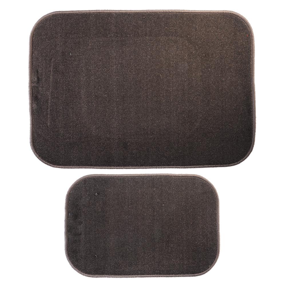 Комплект ковриков для ванной Vetta, 462643, темно-серый, 2 шт