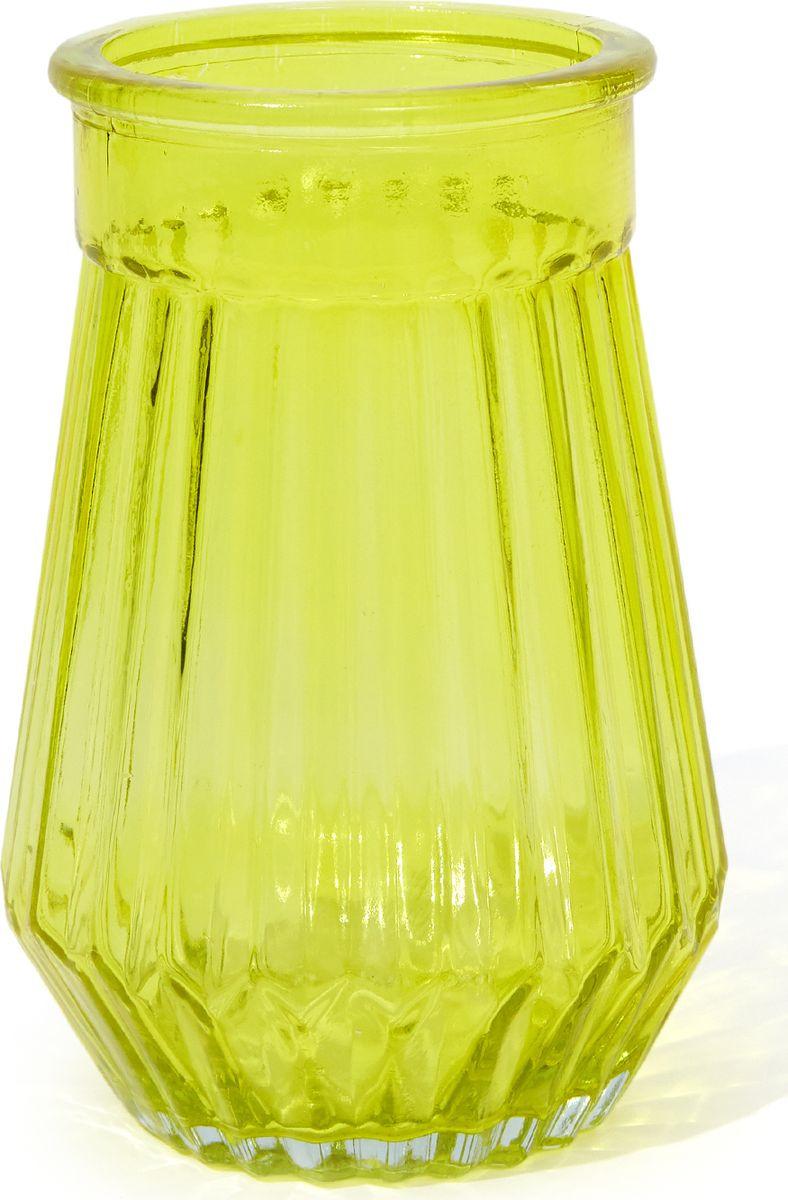 Ваза Cozy Home Santorini, 503148, желтый, 8,7 х 8,7 х 16,5 см цена