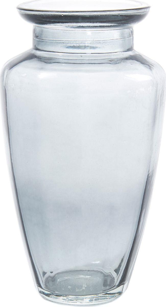 Ваза Cozy Home Santorini, 503154, серый, 8,7 х 8,7 х 19 см