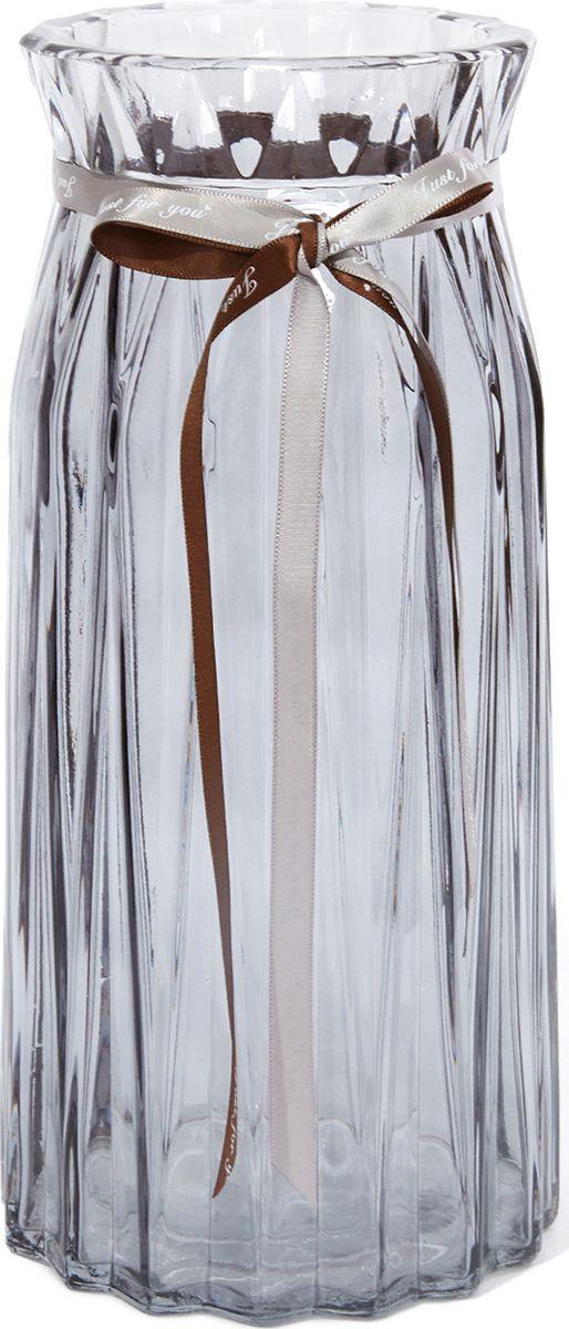 Ваза Cozy Home Coast, 526398, серый, 10 х 10 х 24 см ваза керамическая 14 х 10 х 38 см
