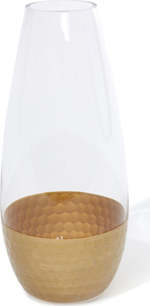 Ваза Cozy Home Mist, 526415, золотой, прозрачный, 11 х 11 х 25,5 см графин cozy home cuisine royale 479792 прозрачный белый 1 л