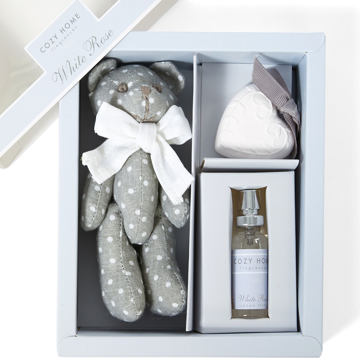 Ароматический набор Cozy Home White Rose Спрей, 10 мл + Сувенир + Фигурка, 504955 arteast 15694 фигурка гипсовая последний звонок