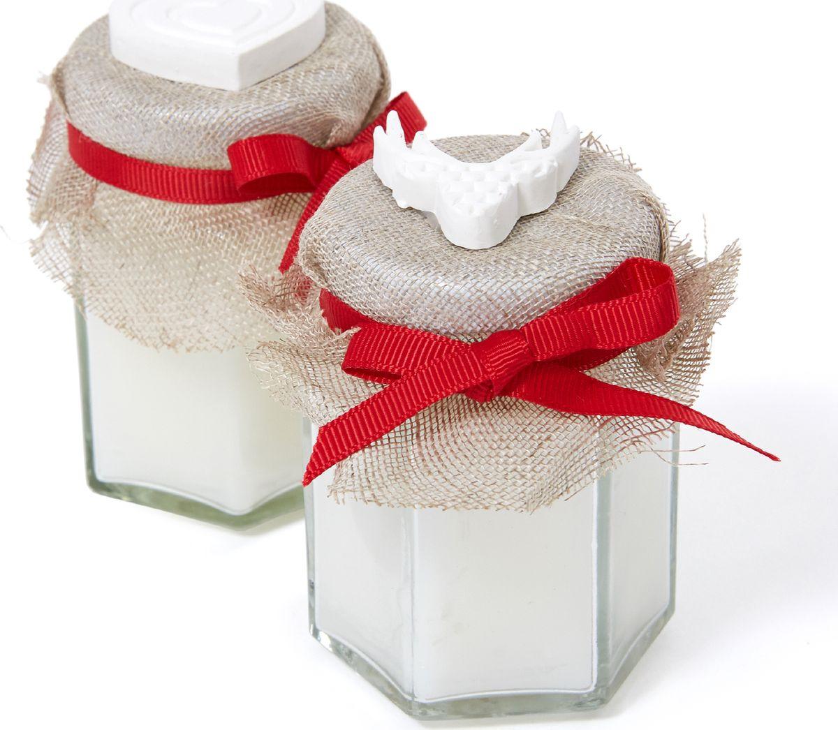 Свеча декоративная Cozy Home Alencon, 539748, красный, 6 х 6 х 8 см свеча декоративная арти м 6x7 см christmas time 348 438