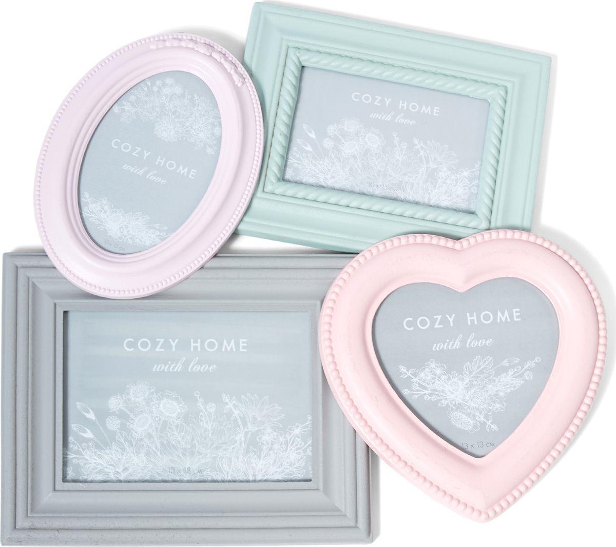 Фоторамка Cozy Home Cheerful Mood, 505504, мятный, розовый, 42 х 40 х 4 см плед детский cozy home сhicca цвет розовый 70 х 100 см