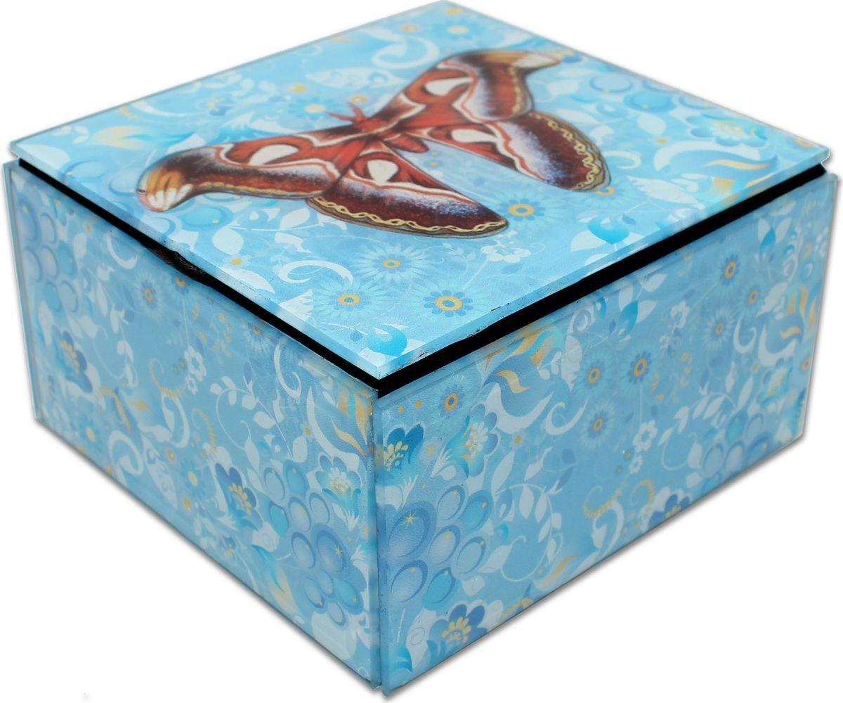 Шкатулка Miland Бабочка, 11,5 х 11,5 х 6,5 см