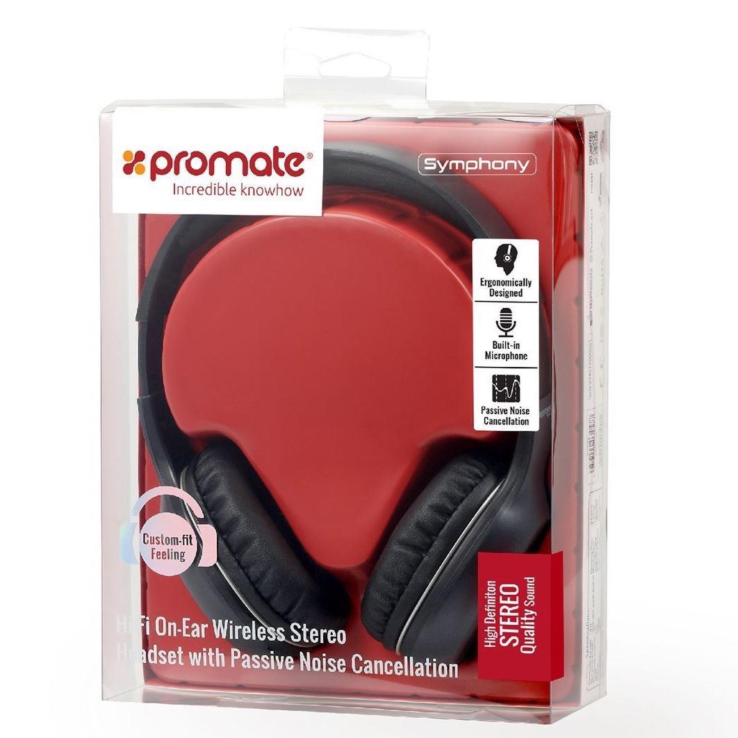 Беспроводные наушники Promate Symphony, черный цена