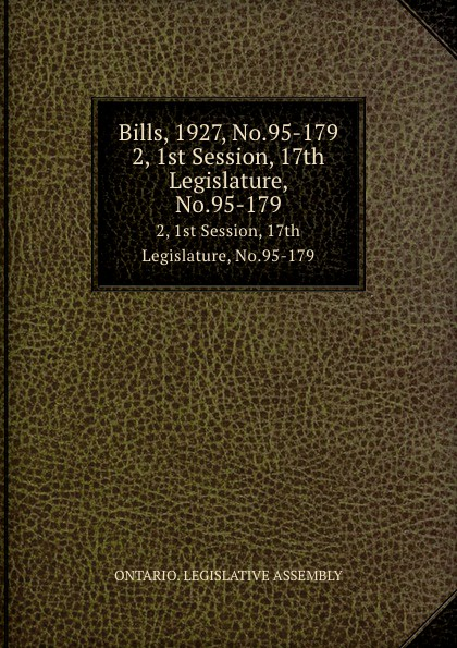 Ontario. Legislative Assembly Bills, 1927, No.95-179. 2, 1st Session, 17th Legislature, No.95-179 no 179 page 7