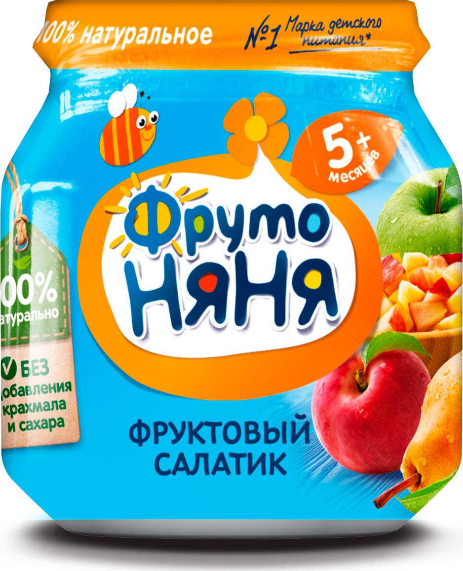 ФрутоНяня пюре фруктовый салатик с персиком с 5 месяцев, 100 г