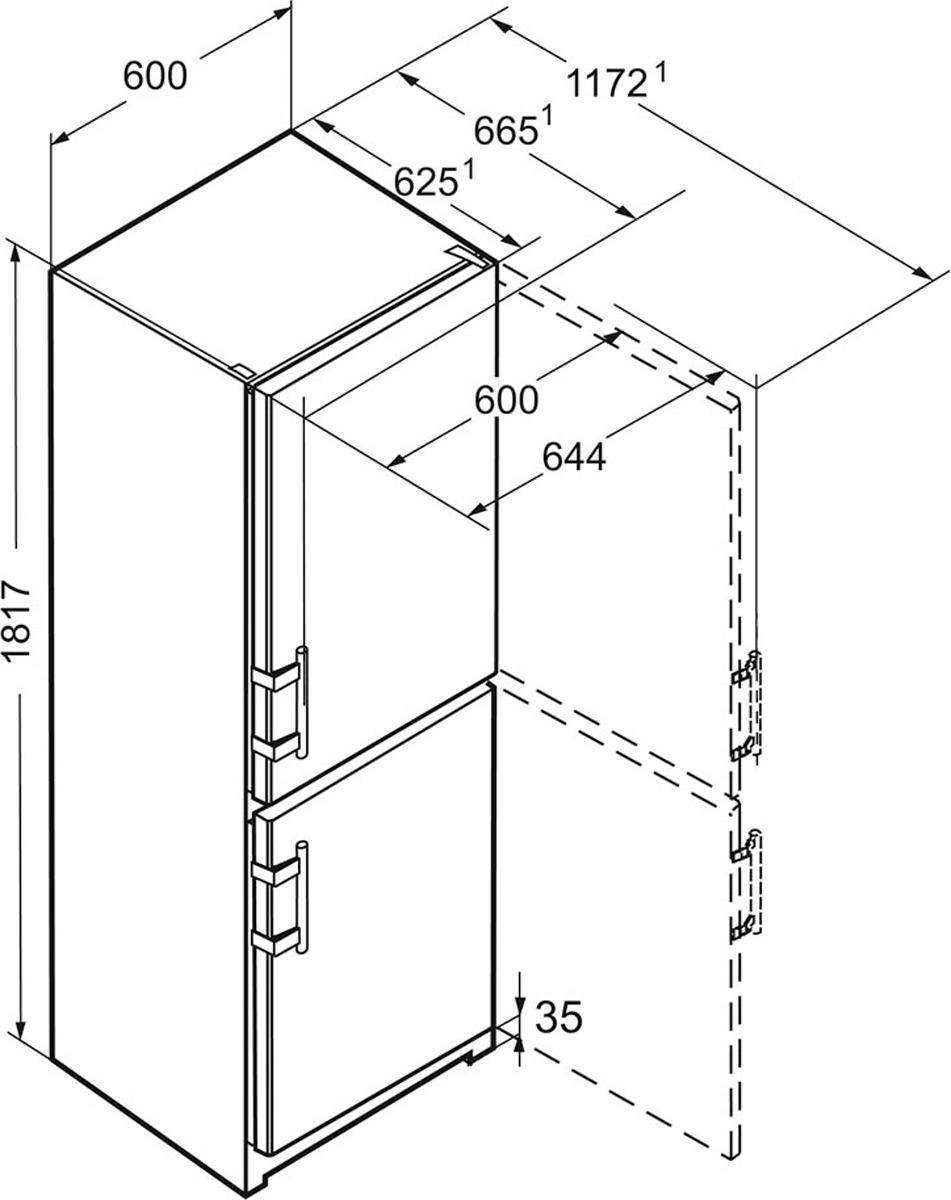 Холодильник Liebherr CUef 3515-20 001, серебристый Liebherr