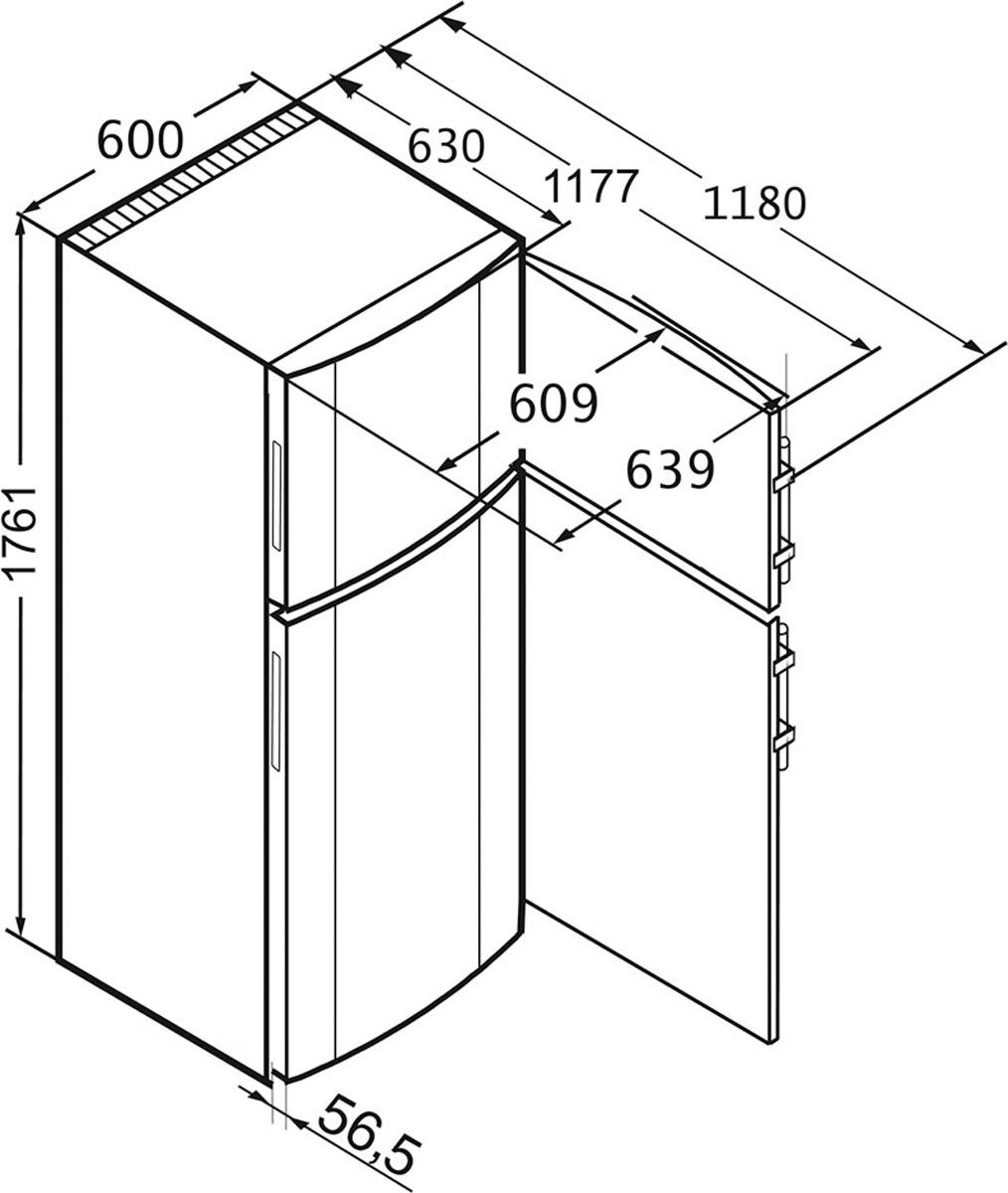 Холодильник Liebherr CTsl 3306-22088, 90000006511, серебристый Liebherr