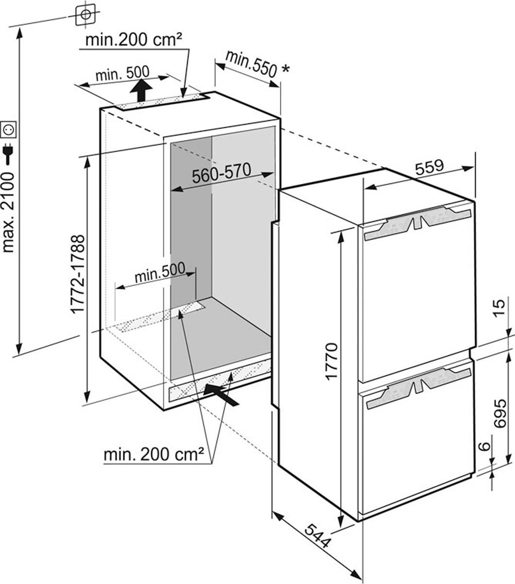 Холодильник Liebherr ICBN 3324-21001, белый Liebherr
