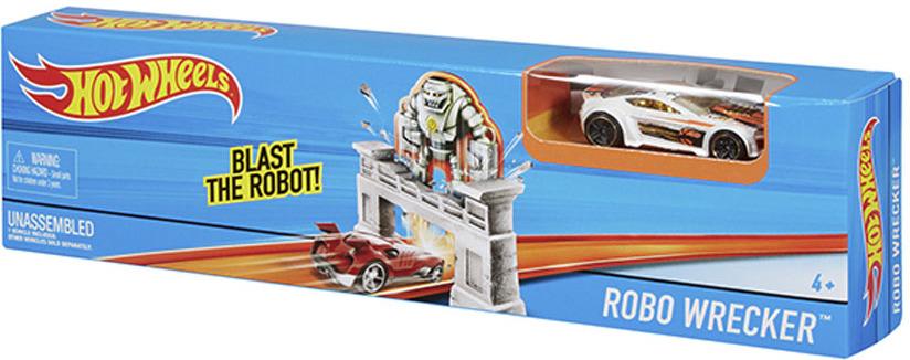все цены на Hot Wheels Игрушечный трек Робот-крушитель онлайн