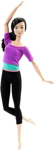 Фото - Кукла Mattel Барби Безграничные движения Фиолетовый топ набор школьниика barbie