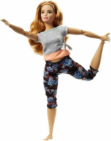 Кукла Mattel Барби Безграничные движения Йога (кудри)131169434Babie Made to Move Doll - Curvy with Auburn Hair, производитель Mattel. Высота куклы 30 см. Целая заводская коробка, наличие аксессуаров соответствует комплектации изготовителя.