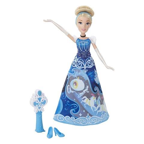 Кукла Hasbro Золушка Принцесса Диснея Волшебная юбка hasbro игровой набор маленькая кукла принцесса и ее друг золушка и мышонок гас b5331 b5333