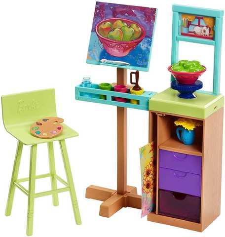 Игровой набор Mattel Студия Барби mattel barbie fdj19 барби игровой набор чаепитие в сладкограде