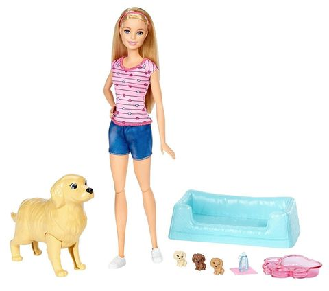 Кукла Mattel Барби с новорожденными щенками
