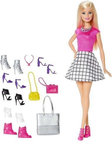 Кукла Mattel Барби Блондинка Модная обувь original many styles for choose colorful assorted casual high heel shoes boots for barbie doll fashion cute newest