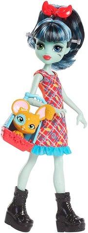 Кукла Mattel Аливия Штейн с питомцем, Семейка Штейн mattel monster high кукла призрачно clawdeen wolf