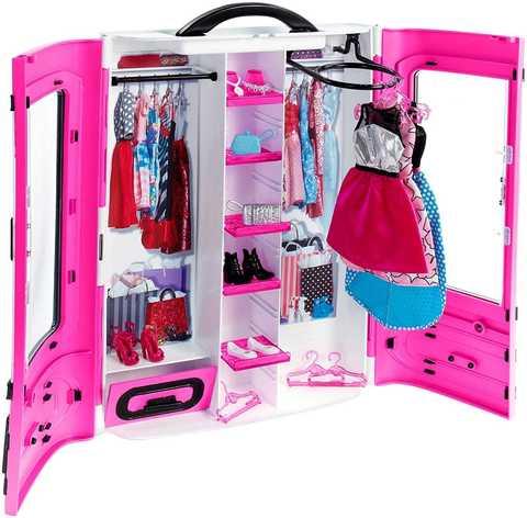 Игровой набор Mattel Шкаф для куклы Barbie Розовый mattel barbie fdj19 барби игровой набор чаепитие в сладкограде