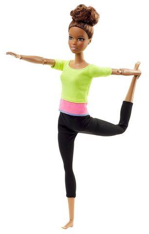 Кукла Mattel Барби Безграничные движения Желтый Топ mattel barbie ftg82 барби безграничные движения шатенка с пучком
