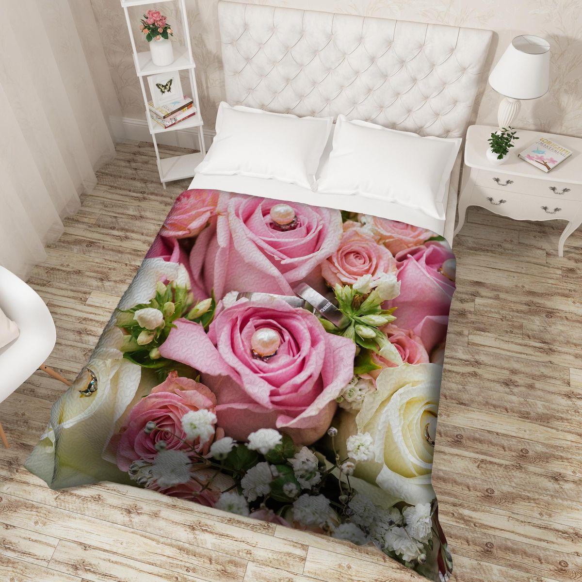 Покрывало Сирень Белый жемчуг розовый