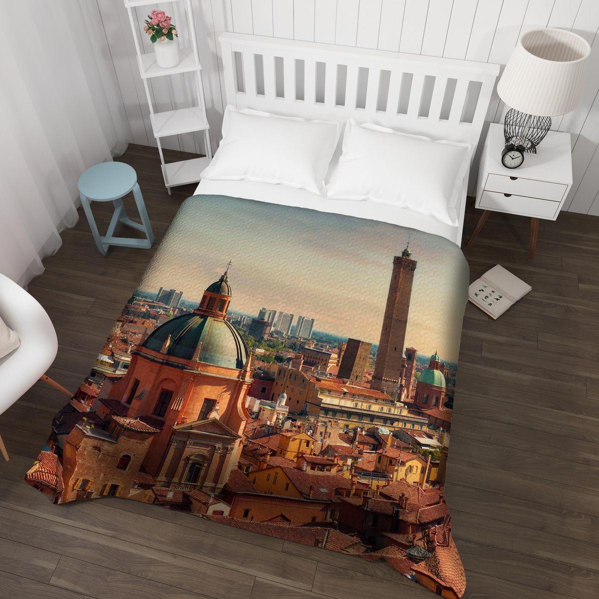 Покрывало Сирень Панорама Болоньи оранжевый