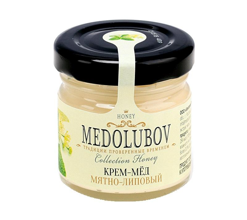 Мед Медолюбов мятно-липовый, 40 г берестов мед башкирхан липовый 30 г