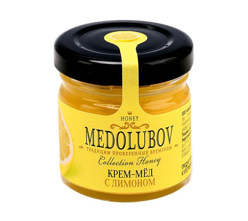 Мед Медолюбов С лимоном, 40 г мед медолюбов клеверный 250гр