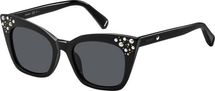 Очки солнцезащитные женские Max & Co, MAC-20036080749IR, серый, черныйMAC-20036080749IRЗащита от УФ лучей.