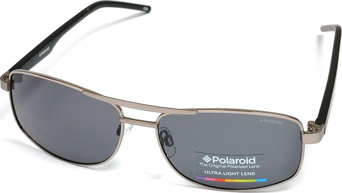 Очки солнцезащитные мужские Polaroid, PLD-233660FAE59Y2, серый, красный очки polaroid pld 6036 s n9p