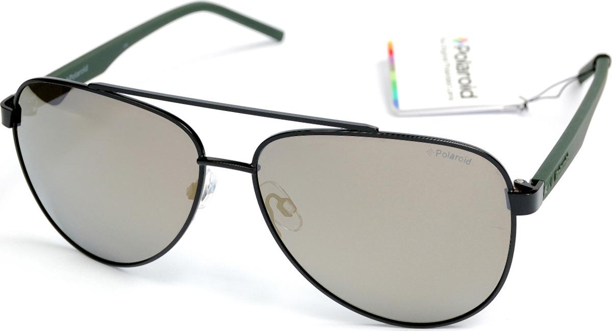 Очки солнцезащитные мужские Polaroid, PLD-20014700361LM, серый, черный очки polaroid pld 6036 s n9p