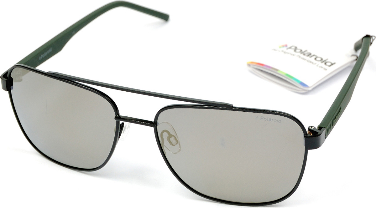 Очки солнцезащитные мужские Polaroid, PLD-20014800360LM, серый, черный очки polaroid pld 6036 s n9p
