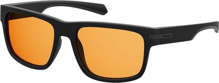 Очки солнцезащитные мужские Polaroid, PLD-20102700355HE, оранжевый, черный очки polaroid pld 6036 s n9p