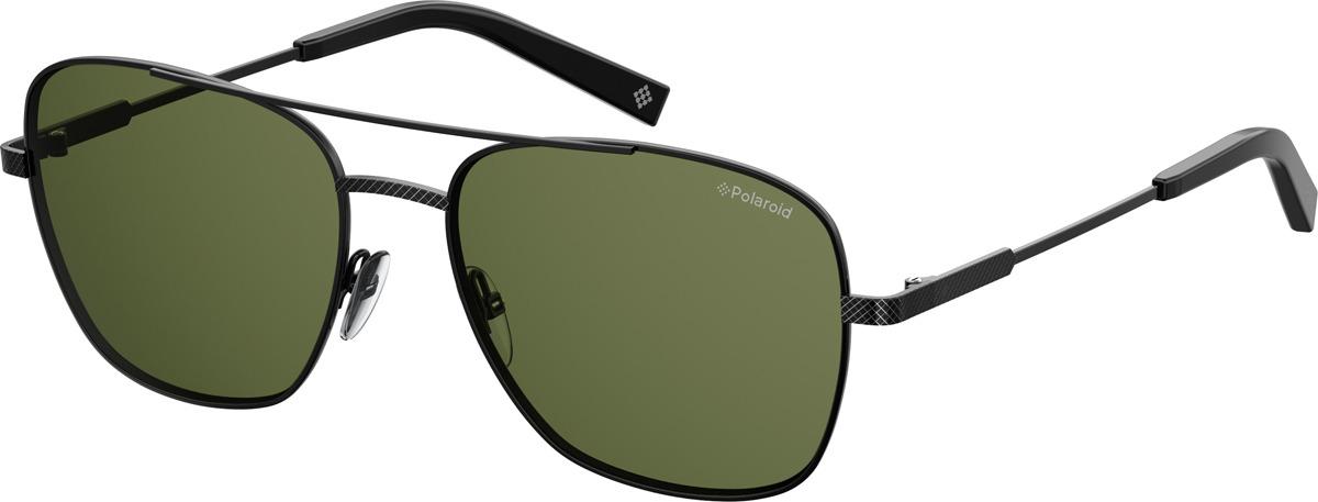Очки солнцезащитные мужские Polaroid, PLD-20136580758UC, зеленый, черный очки polaroid pld 6036 s n9p