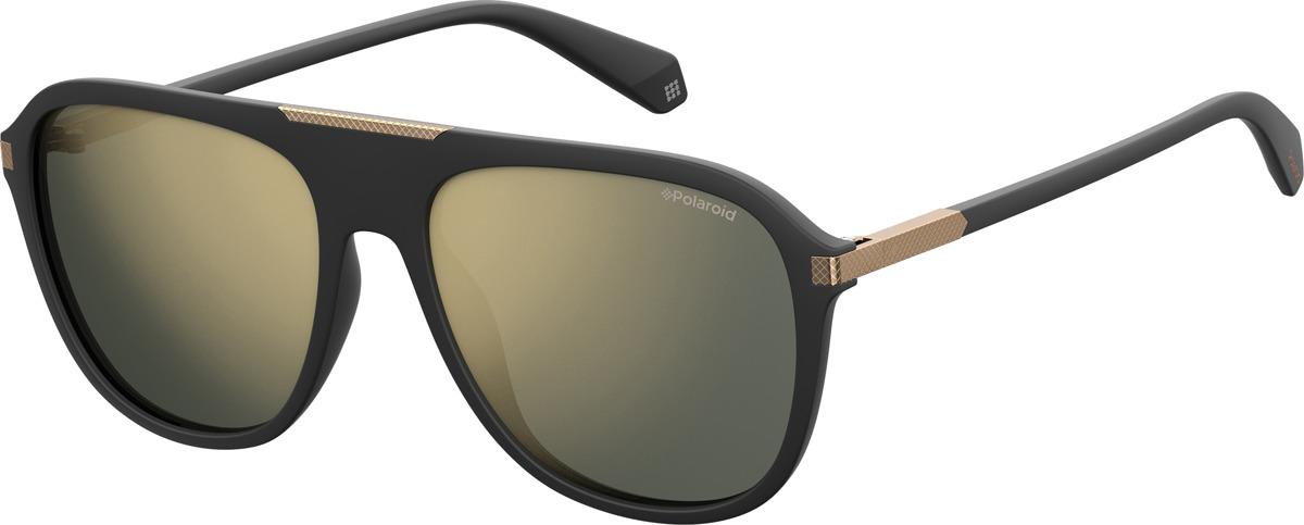 Очки солнцезащитные мужские Polaroid, PLD-20136600358LM, серый, черныйPLD-20136600358LMПоляризация, защита от УФ лучей.