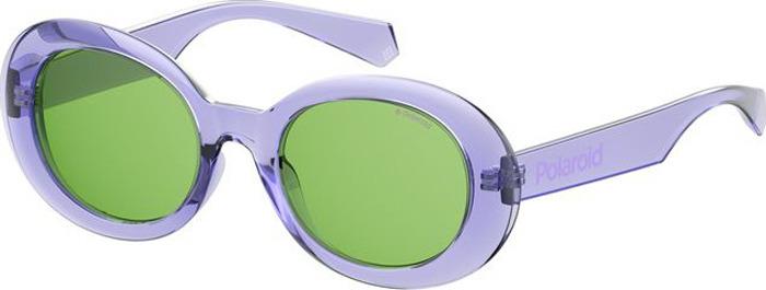 Очки солнцезащитные женские Polaroid, PLD-20132678952UC, зеленый, сиреневыйPLD-20132678952UCПоляризация, защита от УФ лучей.