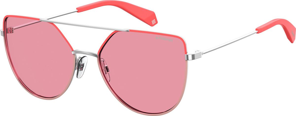Очки солнцезащитные женские Polaroid, PLD-20135035J580F, розовый, розовыйPLD-20135035J580FПоляризация, защита от УФ лучей.