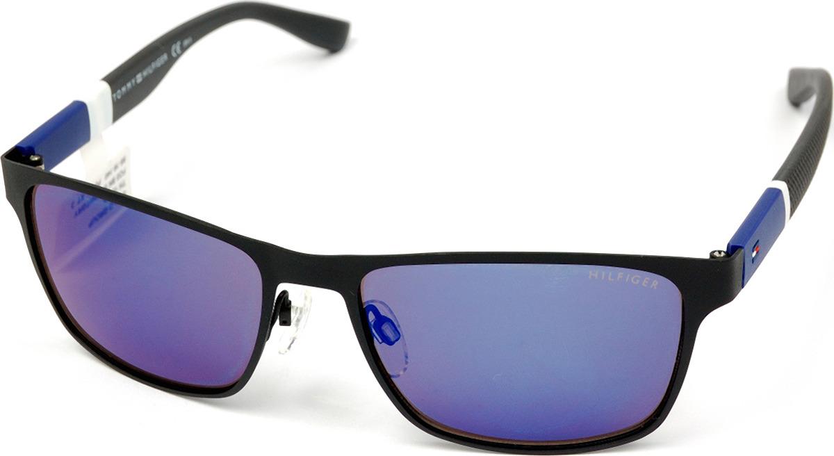Очки солнцезащитные мужские Tommy Hilfiger, THF-247512FO355XT, синий, черныйTHF-247512FO355XTЗащита от УФ лучей.